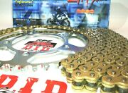 Zx-14 Ninja 2006-11 Did Zvmx Gold X-ring Chain And Sprockets Kit Oem Q.a. Or Fwy