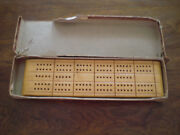 Horn Mccrillis Wood Cribbage Board Est 1846 No. C-9 Made In U.s.a