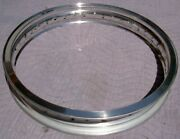 Wm4 2.50 X 19 -40 Hole Akront Italian Style Flanged Alloy Vintage Motorcycle Rim