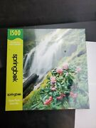 Peaceful Waterfall 1500 Pieces Springbok Puzzle New