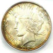 1923-s Peace Silver Dollar 1 - Icg Ms65 - Rare Certified Coin - 2780 Value