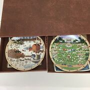 Charles Wysocki Plate Perpetual Wall Calendar Days To Remember Complete Set