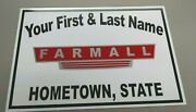 Personalized Farmall Tractor Aluminum Name Sign