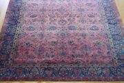 7and039 X 10and039 Antique 1900s Kashann Hand-knotted Floral Wool Oriental Rug Cleaned
