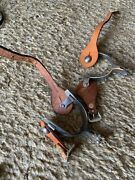 Vintage Spurs W/leather Spur Strap Kids - Unknown - Korea And Usa Stamps