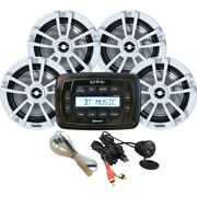 Infinity® Am/fm/usb/bluetooth Marine Stereo Receiver With Four 6 Speakers Kit