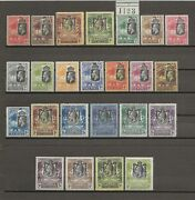 Gambia 1922-29 Sg 118/21 122/42 And Shade Mint Cat Andpound720