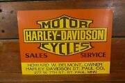 Harley Davidson Motorcycles Sales And Service Sign Howard Belmont St Paul Mn