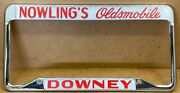 Rare Oldsmobile Downey Ca. Nowling's Olds 70s/80s Car 🚗 License Plate Frame