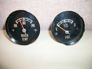 1965 Only Corvette C2 Original Pair Water Temp Up To 240 And Fuel Gauges Used 65