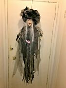 Hallowee Hanging Witch Prop. So Bizarre. Really Cool. Unique. Huge Hat.