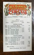 Al.g. Barnes And Sells Floto Circus Official Route Card 1938