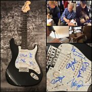 The Beach Boys Love-johnston-wilson-al-marks Signed Electric Guitar Ad2 Coa
