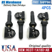 4x Hc3t-1a180-ab New Tire Pressure Monitor Sensor Tpms For Ford Fusion Lincoln