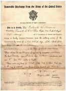 Ww1 Us Army Honorable Discharge Enlistment Papers Anderson South Carolina Sc