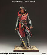Tin Toy Soldiers Crusader 11 Century 54 Mm Figurine Sculpture In Stock
