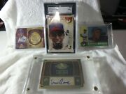 Ultimate Ernie Banks Rc Rookie And Auto Lot Chicago Cubs Autograph And 1960