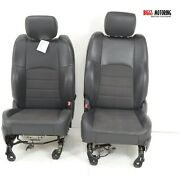 2010-2014 Dodge Ram Front Driver And Passenger Side Cloth Seats Black
