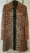 Louis Vuitton Leopard Print Jacquard Coat Leather Detail Jacket New With Tags