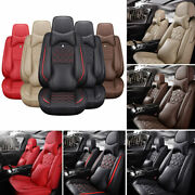 11pc Luxury 5-seat Car Seat Cover Top Interior Frontandrear Cushion All Weather