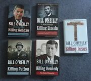 Lot Of 5 O'reilly Killing Jesus, Kennedy, Lincoln, Patton, Reagan Hardcover Ex
