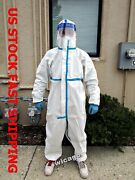 100 Sets Stitching Sealed Protective Coverall Suit Safety Gown Hood In Illinois