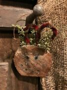 Primitive Grubby Grungy Snowman Christmas Ornament Sweet Annie Set Of Two