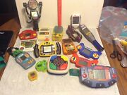 Hand Held Electronic Games Lot Including Vintage Football