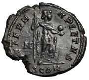 Divus Constantine I The Great Aeterna Pietas Globe And Spear Extremely Rare Gvf