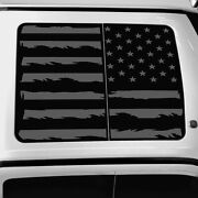 Vinyl Roof Decal For Ford F150 F250 F350 Raptor 2015-2021 Distressed Flag Silver