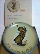 Mi Hummel 1971 1st Edition Plateangel Plate With Candle And Free X-mas Cd
