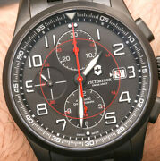 New Victorinox Swiss Army 241741 Airboss Chronograph Automatic Menand039s Watch 2350