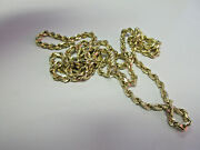 Michael Anthony Brand 25 In. 14k Gold Diamond Cut Rope Chain Necklace 18.8 Grams
