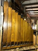 Rare Antique Wooden Pipe Organ Pipes 16 Course Collection 165 Pcs Up To 9andrsquo Tall