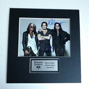 Hollywood Vampires Signed Autographed In Person Display Johnny Depp Joe Cooper