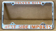 Rare West Side Imports Culver City Ca. 60s/70s Car 🚗 License Plate Frame