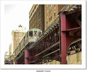 Chicago Elevated Subway Art/canvas Print. Poster, Wall Art, Home Decor