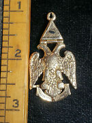 Antique 1878-82 14k Gold Masonic Double Headed Eagle 32nd Degree Medal