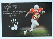 Ricky Williams Hand Print Ustretched 20x36 Canvas Texas Signed Jsa Z65926