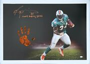Ricky Williams Hand Print Ustretched 20x36 Canvas Dolphins Signed Jsa Z65928