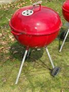 1960s Red 22 Weber Barbecue Grill As Is
