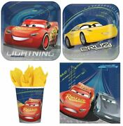 Disney Cars 3 Combo Party Express Pack For 8 Guests Cups Napkins And Plates