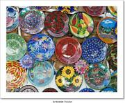 Colorful Mexican Ceramic Plates Art/canvas Print. Poster Wall Art Home Decor