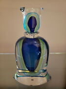 Formia Murano Art Glass Hand Blown Decanter Bottle Heavy Made In Italy