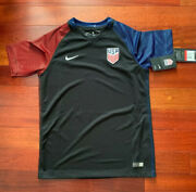 New Authentic Nike Usa Youth Soccer Jersey Dri-fit 724707 011 Away Replica Large