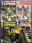 Savage Sword Of Conan 11 To 15. 1976. 5 X Bronze Age Issues.
