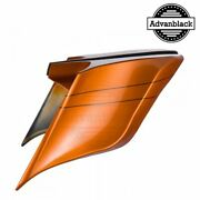 Advanblack Amber Whiskey Stretched Extended Side Cover Pinstripe Harley 2014+
