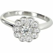 And Co. Platinum And Diamond Flower Bloom Ring Size 5.5 5 1/2