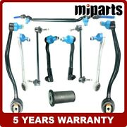 Front Lower L R Control Arms Tie Rod Sway Bar Link Kit Fit For Bmw E38 750il 740