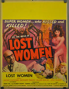 On The Mesa Of Lost Women 1952 Original 22x28 Movie Poster Jackie Coogan